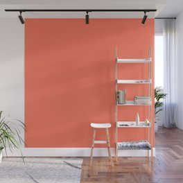 Simply Deep Coral Wall Mural