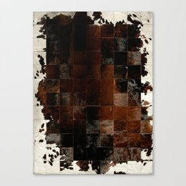 cowhide texture patchwork Canvas Print