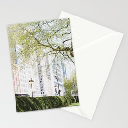 Chicago Spring Green Stationery Cards