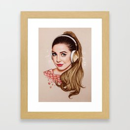 Zoella & Music Framed Art Print