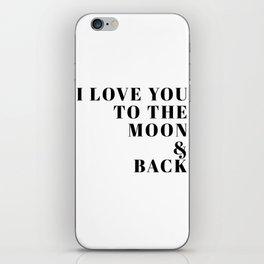 moon & back iPhone Skin