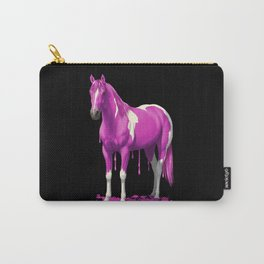 Hot Pink Dripping Wet Paint Horse Carry-All Pouch