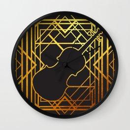 Art Deco Violin Wall Clock
