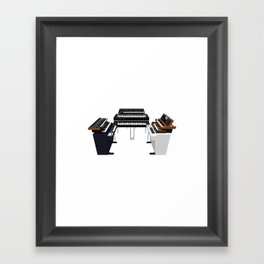 Vintage Keyboards / Synthesizers Framed Art Print