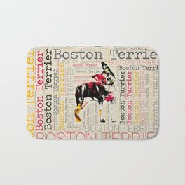 Adorable Boston Terrier Bath Mat