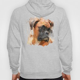 Boxer Dog Thinking Hoody