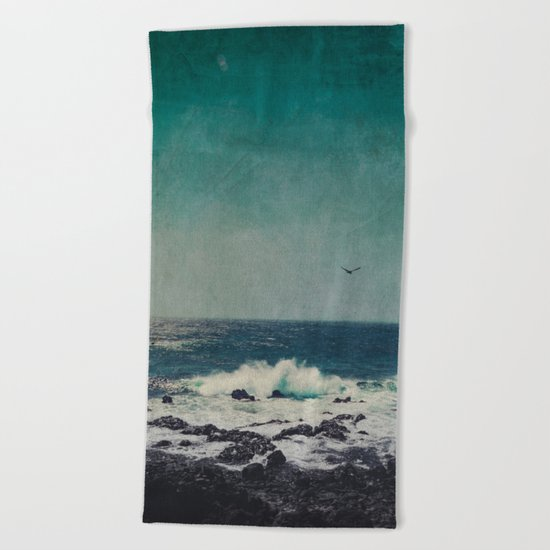 emerAld oceAn Beach Towel