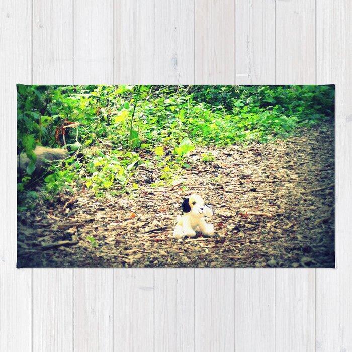 Lost Puppy Dog Rug