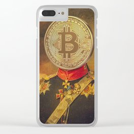 "Bit Coin Fanatic General | ""So Let Me Tell You About My Coin Base"" Clear iPhone Case"