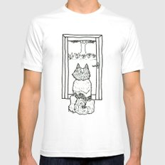 Paul at the Window Mens Fitted Tee White SMALL