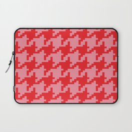 Houndstooth - Pink & Red Laptop Sleeve