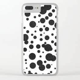 Dot Pattern 5 - Black, White - Ceramic Tile Pattern - Surface Pattern Design - Mediterranean Pattern Clear iPhone Case