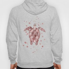 Glamour Turtle Rose Gold Hoody