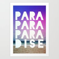 paradise Art Prints featuring PARADISE by Leah Flores