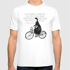 Audrey always knows what to say. Mens Fitted Tee White MEDIUM