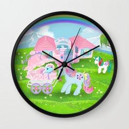 g1 my little pony stylized Sweet Stuff and baby Wall Clock