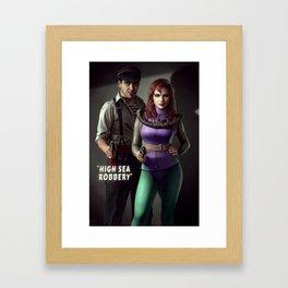 High Sea Robbery Framed Art Print
