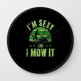 Lawn Mowing Sexy Wall Clock