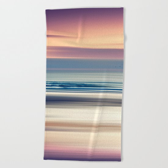 Sharing the Magic - abstract seascape at sunset Beach Towel
