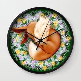 Peaceful Sleep (Eevee) Wall Clock