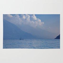 Lake Garda in the Blue Mist Rug