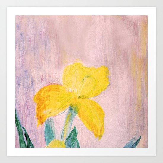 Sunny iris Art Print