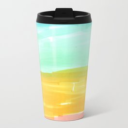 spring rainbow stripes Travel Mug