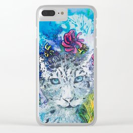 Queen Snow Leopard Clear iPhone Case