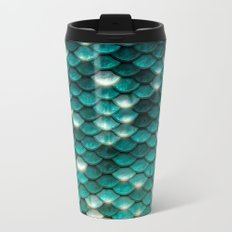 Turquoise sparkling mermaid glitter scales- Mermaidscales Metal Travel Mug