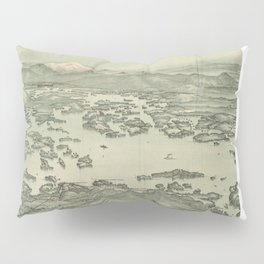 Vintage Pictorial Map of Lake Winnipesaukee (1903) Pillow Sham