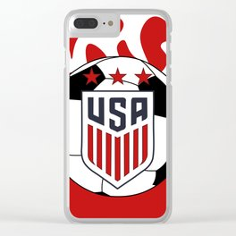 United States Soccer Clear iPhone Case