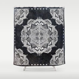 Mandala Tile Galaxy Shower Curtain
