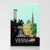 vienna Stationery Cards featuring Visit Vienna by Duke Dastardly