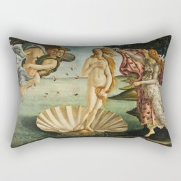 The Birth of Venus painting Rectangular Pillow