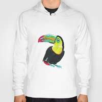 toucan Hoodies featuring Toucan by Félin & Flora