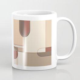 Abstract Art Shapes II Browns Rusts Creams Coffee Mug