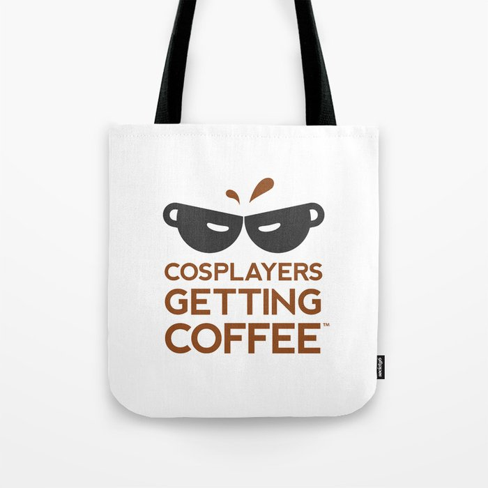 Cosplayers Getting Coffee Tote Bag
