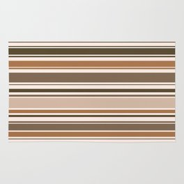 The Perfect Line Collection - Brown on Brown Rug