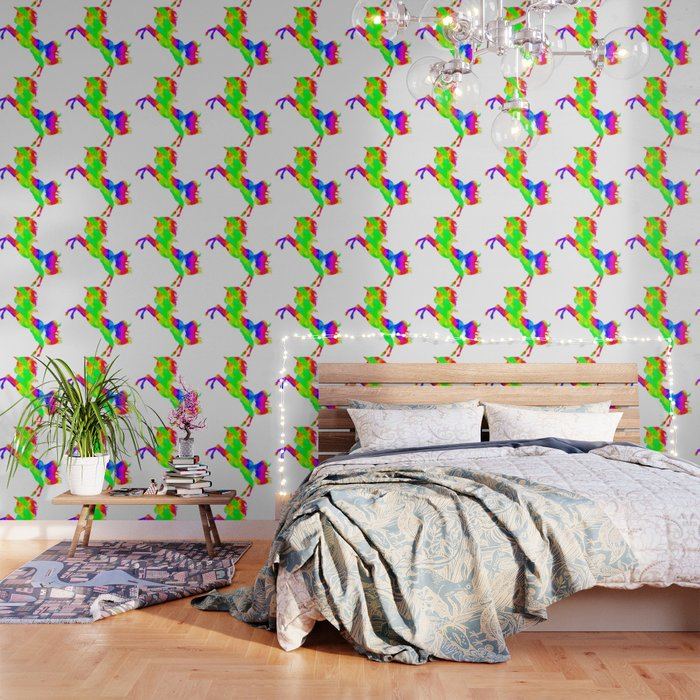 Rainbow Spiral Star Unicorn Design Poop Emoji Wallpaper