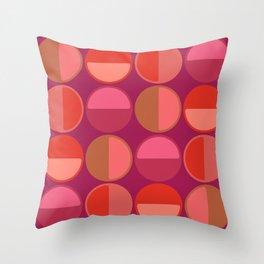circle semicircles pattern Throw Pillow