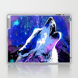 WOLF MOON AND SHOOTING STARS Laptop & iPad Skin