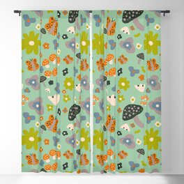 Mushroom Jungle Blackout Curtain