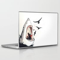 shark Laptop & iPad Skins featuring shark by SOF.T