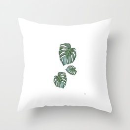 Monstera The Tree Throw Pillow