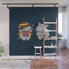 Hippypotamus Wall Mural