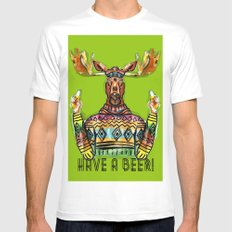 Have a Beer MEDIUM Mens Fitted Tee White