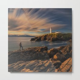 On The Rocky Outcrop Metal Print