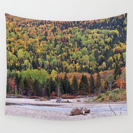 Riverbed in Autumn Wall Tapestry