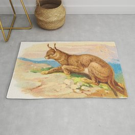 Lynx from the Quadrupeds series for A&G 1890 // Colorful Animal Painting Detailed Dots Rug