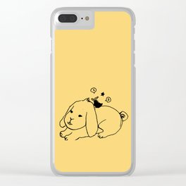 Me and big rabbit - Egg yolk color Clear iPhone Case